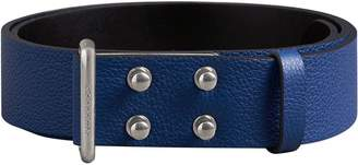 Burberry Push-Stud Grainy Leather Belt