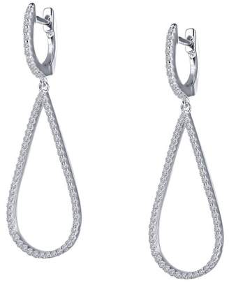Lafonn Sterling Silver Simulated Diamonds Accented Pear Earrings