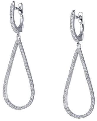 Lafonn Sterling Silver CZ Accented Pear Earrings