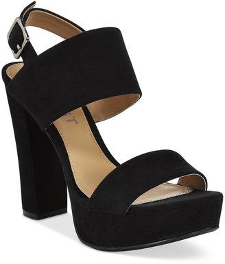 Report Lawren Two-Piece Platform Sandals $49 thestylecure.com