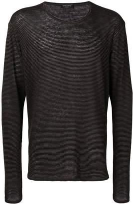 Roberto Collina striped long-sleeved T-shirt