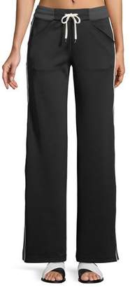Blanc Noir Vista Straight-Leg Drawstring Track Pants
