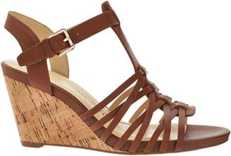Isaac Mizrahi Live! Leather Fisherman Wedge Sandals