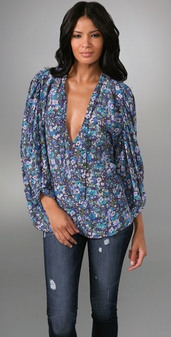 Rebecca Taylor Spring Blossom Gypsy Blouse