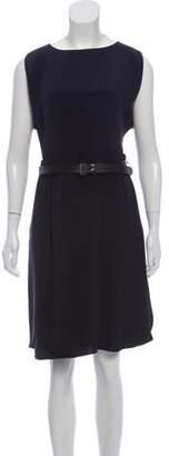 Derek Lam Silk Belted Midi Dress
