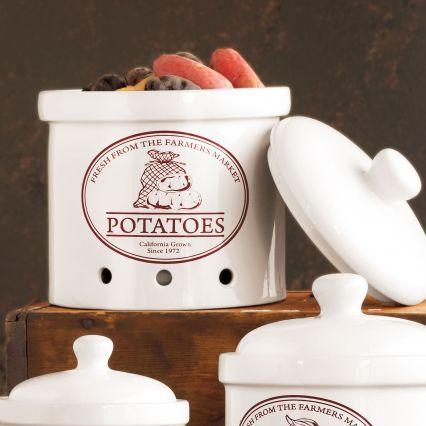 Sur La Table Ceramic Potato Crock