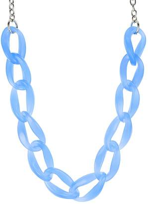 "Aqua Lucite Chain Necklace, 21"" - 100% Exclusive"