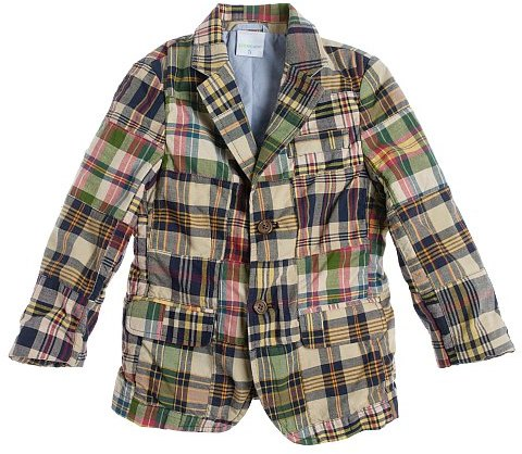 Boys' Noroton patchwork madras sportcoat