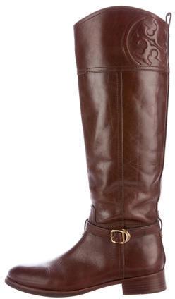 Tory BurchTory Burch Leather Knee-High Riding Boos