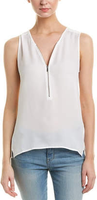The Kooples Sport Mix Silk Top