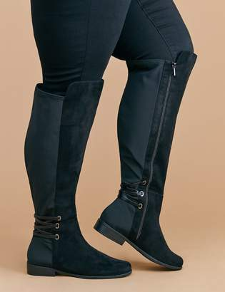 Over-the-Knee Corset-Back Boot