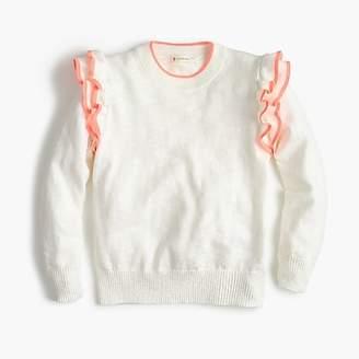 J.Crew Girls' ruffle popover sweater