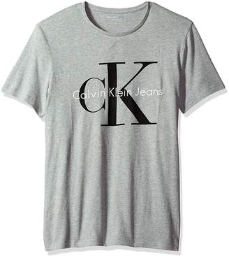 Calvin Klein Men's Short Sleeve Reissue Logo T-Shirt, Grey Heather