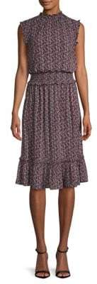 MICHAEL Michael Kors Smocked Tulip Midi Dress