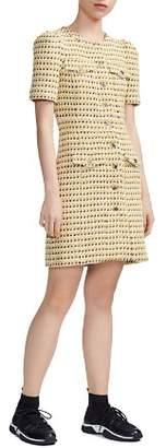 Maje Rill Tweed Shirt Dress