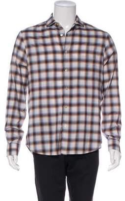 Paul Smith Plaid Button-Up Shirt