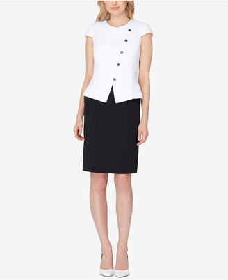 Tahari ASL Asymmetrical Skirt Suit $280 thestylecure.com