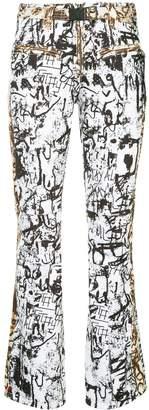 Kru rainbow stretch graffiti print ski pants