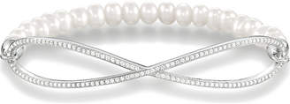 Thomas Sabo Love Bridge pearl and sterling silver infinity bracelet