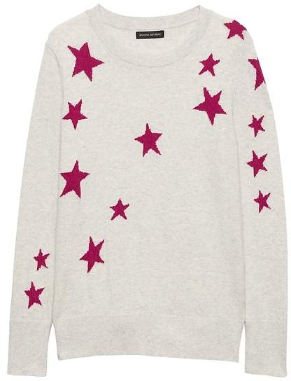 Italian Merino Wool-Blend Star Sweater