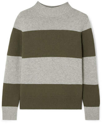 J.Crew Striped Wool-blend Sweater - Green