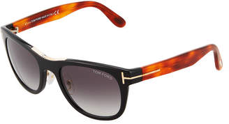 Tom Ford Two-Tone Plastic Round Sunglasses