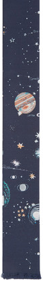 Valentino Navy Silk Constellations Tie $230 thestylecure.com