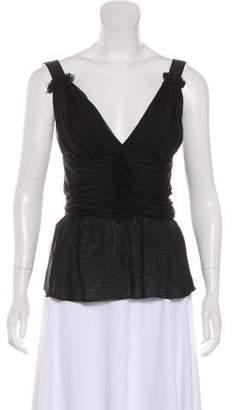 Dolce & Gabbana Silk Sleeveless Top