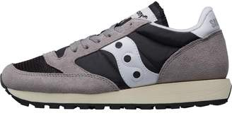 Saucony Womens Jazz Original Vintage Trainers Grey/Black/White