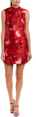Valentino Jacquard A-Line Silk-Blend Dress