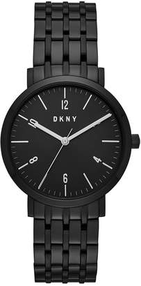 DKNY Women's Minetta Black Stainless Steel Bracelet Watch 36mm, Created for Macy's