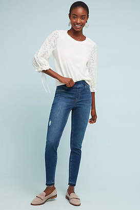 Spanx Mid-Rise Distressed Denim Leggings