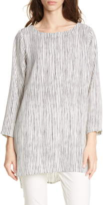 Eileen Fisher Stripe Silk Tunic