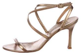 Manolo Blahnik Leather Strap Sandals