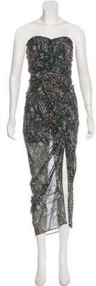 Veronica Beard Silk Strapless Dress