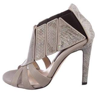Chrissie Morris Embossed Cage Sandals
