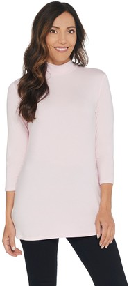 Halston H By H by Essentials Mock Neck 3/4-Sleeve Tunic