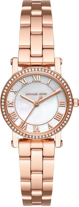 Michael Kors Women's Petite Norie Rose Gold-Tone Stainless Steel Bracelet Watch 28mm MK3558 $225 thestylecure.com