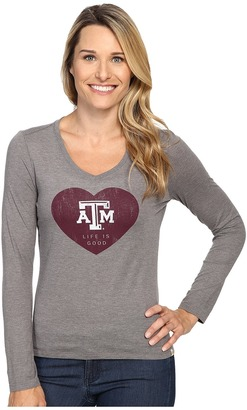 Life is good ATM Heart Long Sleeve Tee $36 thestylecure.com