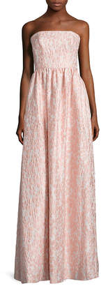 Shoshanna Jacquard Flower Maxi Dress