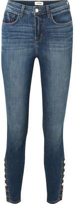 L'Agence Piper High-rise Skinny Jeans - Dark denim