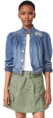 Marc Jacobs Denim Bomber Jacket $495 thestylecure.com