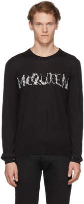 Alexander McQueen Black Intarsia Dancing Skeleton Sweater