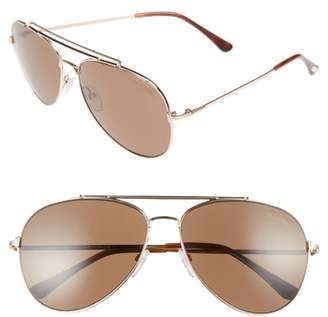 Tom Ford Indiana 60mm Polarized Aviator Sunglasses