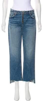 GRLFRND Mid-Rise Straight-Leg Jeans