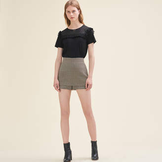 Maje Short checked shorts