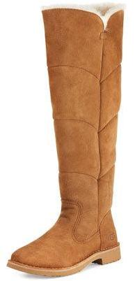 UGG Sibley Shearling Over-the-Knee Boot, Chestnut $300 thestylecure.com