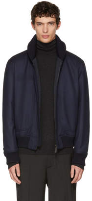 Brioni Navy Herringbone Jacket