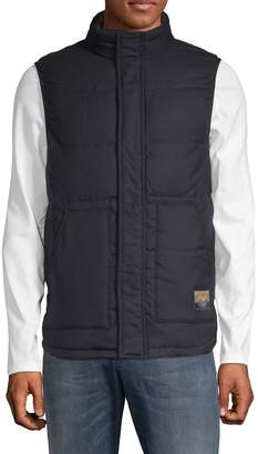 Scotch & Soda Quilted High Neck Puffer Vest