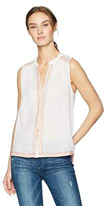 Lucky Brand Women's Embroidered Tank TOP White